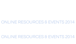 Online Resources & Events 2014